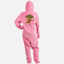 celery,-happy.png Footed Pajamas