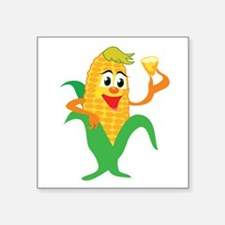 "corn,corny1.png Square Sticker 3"" x 3"""