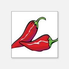 "chilis.png Square Sticker 3"" x 3"""