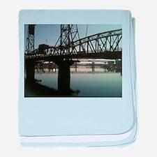 Bridges in Portland baby blanket