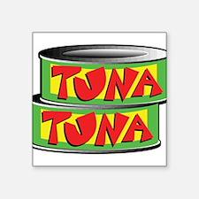 "tuna.png Square Sticker 3"" x 3"""