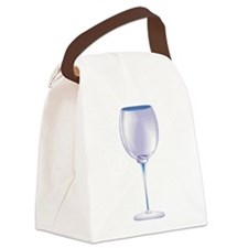 wine, empty glass.jpg Canvas Lunch Bag