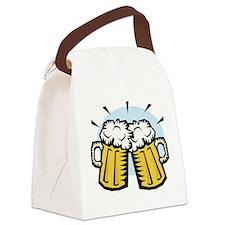 beer, mugs.jpg Canvas Lunch Bag