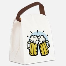 beer, mugs.jpg Canvas Lunch Bag