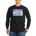 Hello I Am Lost Sticker Long Sleeve Dark T-Shirt