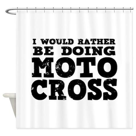 'Motocross' Shower Curtain