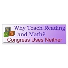 Why Teach Reading Bumper Bumper Sticker