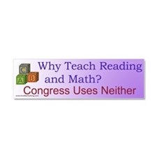 Why Teach Reading Car Magnet 10 x 3