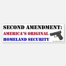 Second Amendment Original Homeland Bumper Bumper Bumper Sticker