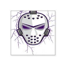 "lightning,purple,mask.png Square Sticker 3"" x 3"""