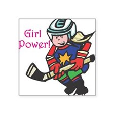 "girl-power.png Square Sticker 3"" x 3"""
