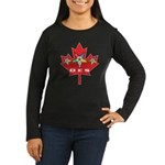 OES Canadian Maple Leaf Women's Long Sleeve Dark T