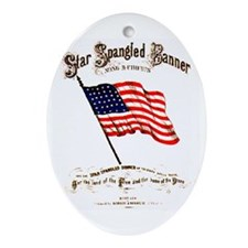 Star Spangled Banner Oval Ornament
