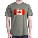Canada Canadian Flag Olive Green T-Shirt