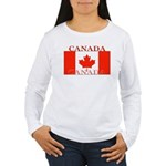 Canada Canadian Flag Women's Long Sleeve T-Shirt