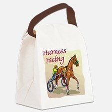 harness racing glow.jpg Canvas Lunch Bag