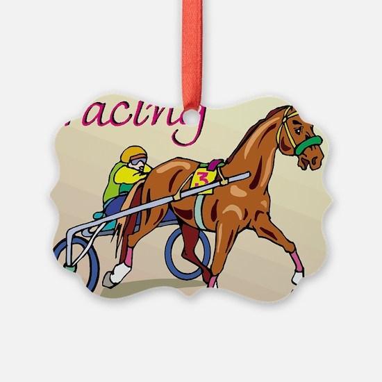 harness racing glow.jpg Ornament