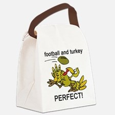 football and turkey, perfect.jpg Canvas Lunch Bag