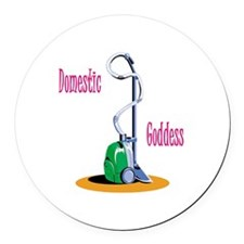 domestic-goddess-png.png Round Car Magnet