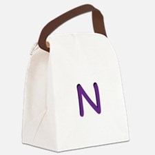 n-tile-purple.png Canvas Lunch Bag