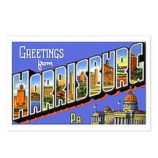 Harrisburg Pennsylvania Greetings Postcards (Packa