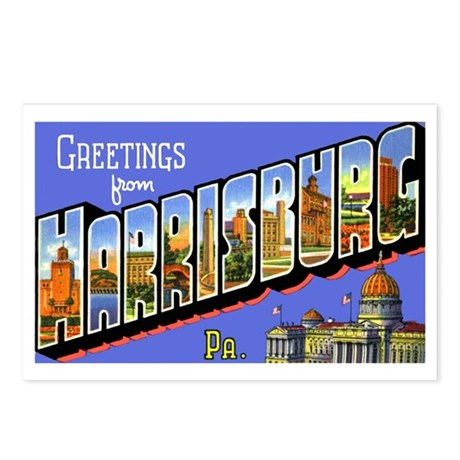 Harrisburg Pennsylvania Greetings Postcards (Packa