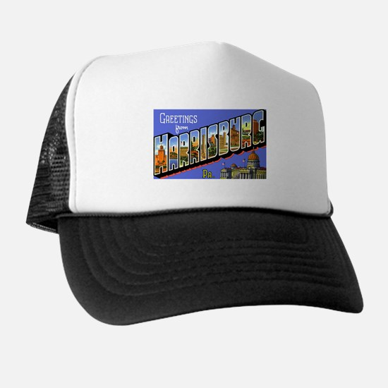Harrisburg Pennsylvania Greetings Trucker Hat