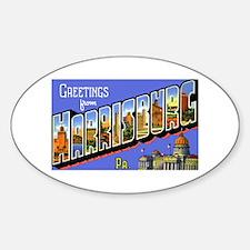 Harrisburg Pennsylvania Greetings Oval Decal