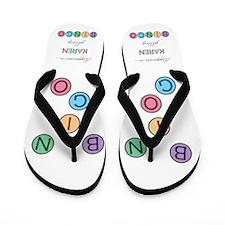 Karen BINGO Flip Flops