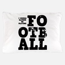 'Playing Football' Pillow Case