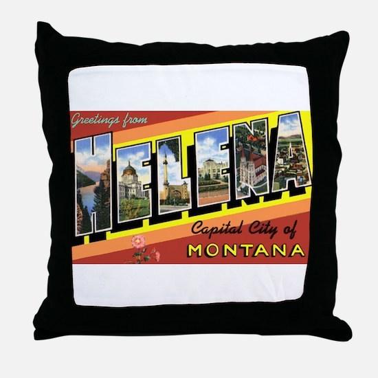 Helena Montana Greetings Throw Pillow