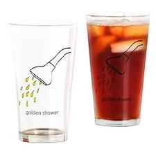 golden shower Drinking Glass