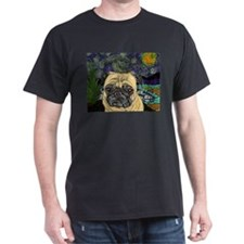 Starry night pug T-Shirt