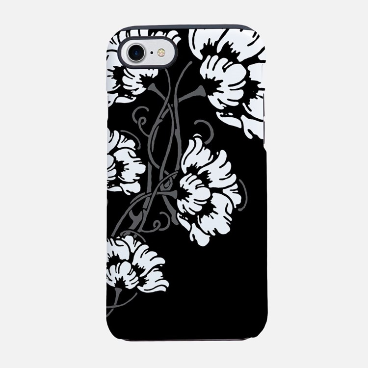 art-nov-flower_bw_13-5x18.png iPhone 7 Tough Case