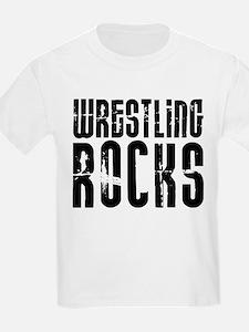 Wrestling Rocks! Kids T-Shirt