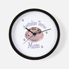 Australian Terrier Mom Wall Clock