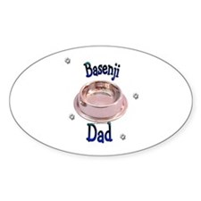 Basenji Dad Oval Decal