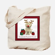 Merry Doodle Christmas Tote Bag
