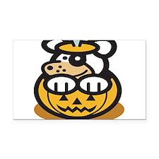 cute-dog-in-pumpkin.png Rectangle Car Magnet