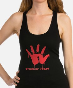 bloody-hand,trick-or-treat.png Racerback Tank Top