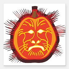 "cat-o-lantern.png Square Car Magnet 3"" x 3"""