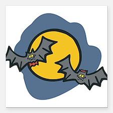 """bats,-boy-n-girl.png Square Car Magnet 3"""" x 3"""""""
