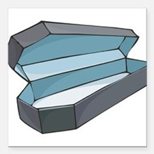 """coffin.png Square Car Magnet 3"""" x 3"""""""