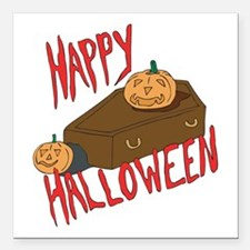 """happy-halloween1.png Square Car Magnet 3"""" x 3"""""""