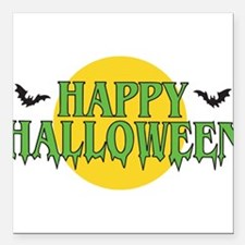 """happy-halloween2.png Square Car Magnet 3"""" x 3"""""""