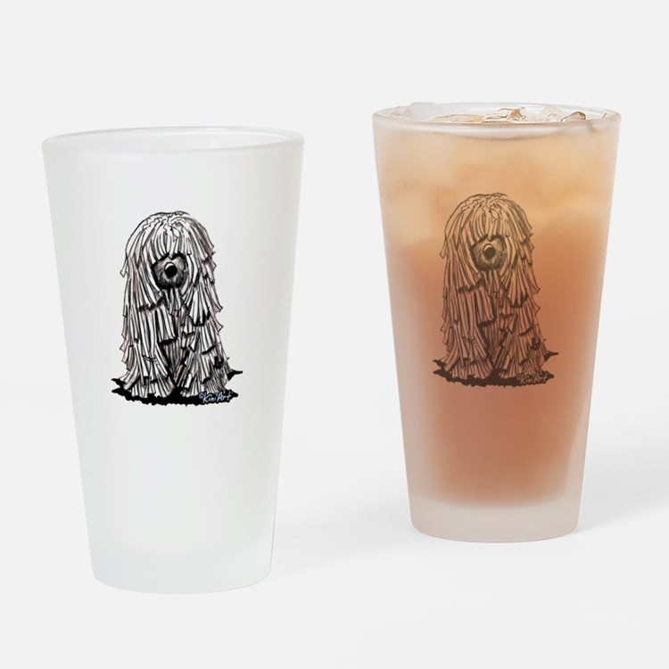 Puli Dog Drinking Glass