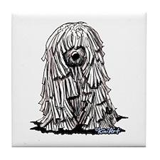 Puli Dog Tile Coaster