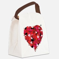 Lots Of Love Heart Canvas Lunch Bag