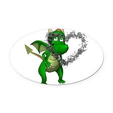dragonheart.png Oval Car Magnet