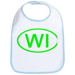 WI Oval - Wisconsin Bib